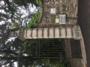 Eingang zum Arboretum in Arco am Gardasee
