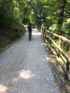 Radweg durchs Ledrotal an Biacesa und Pre vorbei