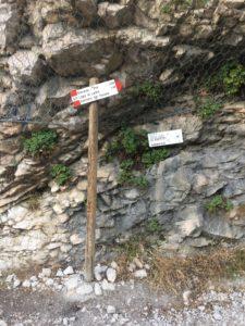 Wegweiser zur Sentiero del Ponale