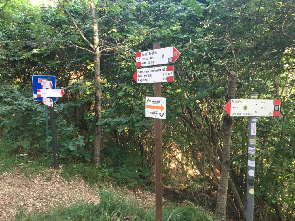 Passo Guil - nach Leano Limone oder Pregasina